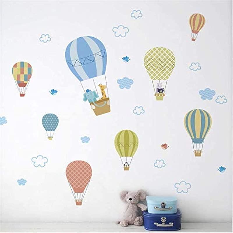 Leguliya Hot Air Balloons Wall Stickers Adesivo De Parede Children Bedroom Living Room Nursery Room Decor Wall Decals Poster Mural