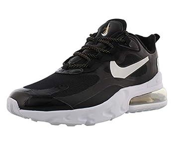 Nike Womens Air Max 270 React Running Trainers CT3426 Sneakers Shoes  UK 6 US 8.5 EU 40 Black Metallic Silver 001