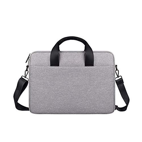 WSY General Laptop Bag 13/14/15 Inch Notebook Shoulder Bag Laptop Messenger Bag For Macbook Air Pro Computer Handbag Briefcase (Color : Grey, Size : 15.4 inch)