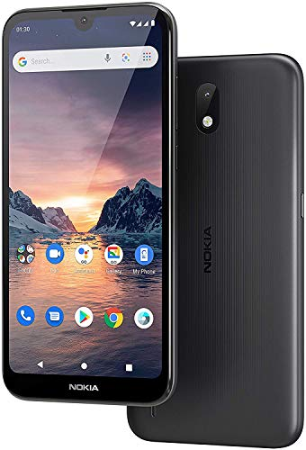 Nokia 1.3 - 5.71 '' Smartphone (1 GB RAM, 16 GB ROM, 8 MP Camera, 3000 mAh Battery, Dual Sim), Charcoal [Versión ES/PT]