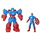 Avengers Hasbro Marvel Mech Strike 8-inch Super Hero Action Figure Toy Ultimate Mech Suit Captain America, for Kids Ages 4 and Up