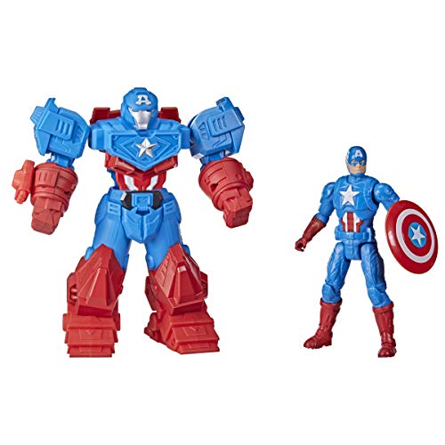 Hasbro Marvel Avengers Mech Strike - Super Hero da 20 cm, action figure di Captain America Ultimate Mech Suit, per bambini dai 4 anni in su
