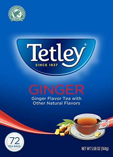 Tetley Tea, Ginger, 72-Count Tea Bags (Pack of 3)