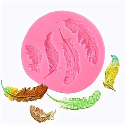 Yiwa bakvorm van siliconen, grote en kleine knopen voor suiker, veer, bakvorm, fondant, decoratie, cake, chocolade, gumpasta