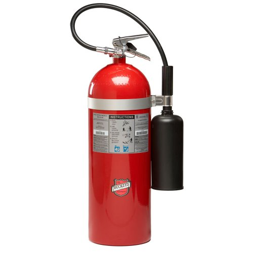Buckeye 46600 Carbon Dioxide Hand Held Fire Extinguisher with Wall Hook, 20 lbs Agent Capacity, 8