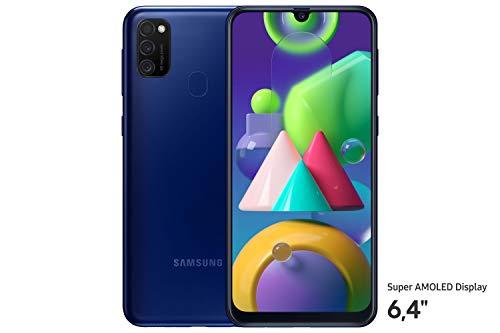 Samsung Galaxy M21 Smartphone (16,21 cm (6,4'') 64 GB interner Speicher, 4 GB RAM, Android, blue) Deutsche Version