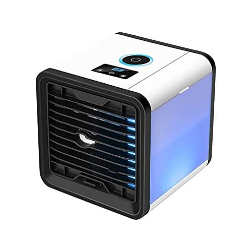 Luftkühler, 5-in-1 Mini Tragbarer Kühler Klimaanlage Lüfter mit LCD-Display, Desktop Cooler Bürokühlung Starke Geräuscharmut und gesunde saubere Luft Einfaches Erscheinungsbild mit Nachtlicht