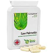 Saw Palmetto 2500 mg 90 Sägepalm-Kapseln Vegan - Nahrungsergänzung für die Harnwege und Prostata-Gesundheit für Männer
