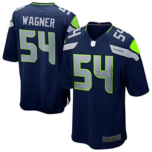 WOPOO Camiseta de fútbol americano personalizada Bobby Seahawks NO.54 Marina, Wagner Seattle Game Player Jersey de secado rápido para hombres