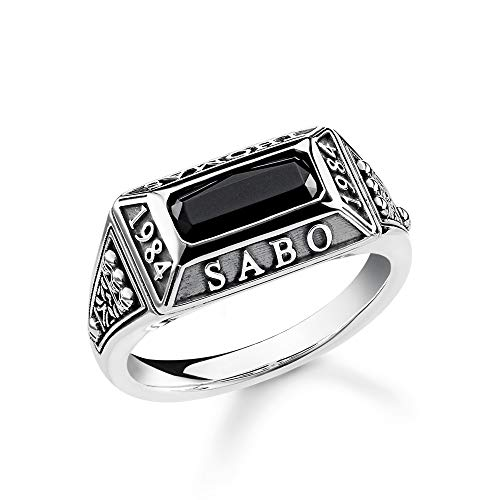 Thomas Sabo Unisex-Ring College Ring 925er Sterlingsilber geschwärzt TR2243-698-11-54