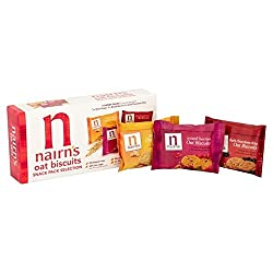 Nairn's 9 Oat Biscuits Snack Pack Selection 180g - Pack of 2 Quantity: 2