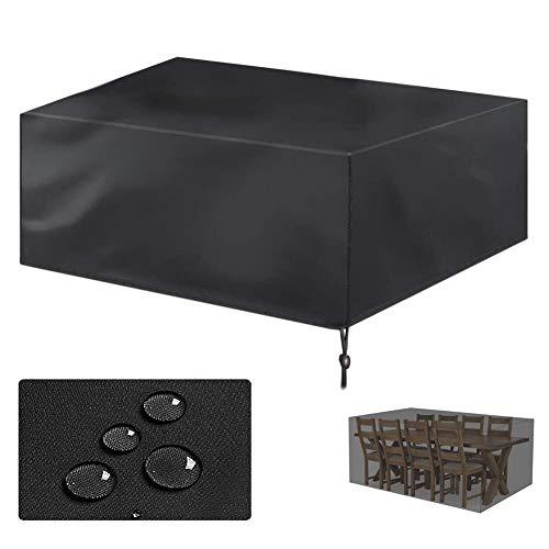 Geling Funda Protectora para Muebles de jardín-recubierta de PVC-Impermeable/Resistente a los Rayos UV/Impermeable-con Aberturas de ventilación,213×132×74 cm/83×52×29'