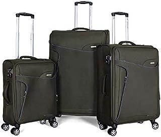 جيوردانو حقائب سفر بعجلات للجنسين 3 قطع ، اخضر ، 1627714