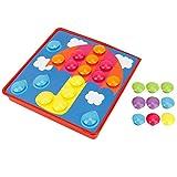 Jeanoko Juguete del clavo del botón, seta del juguete del clavo del botón de la seta del juguete del clavo de la capacidad del pensamiento
