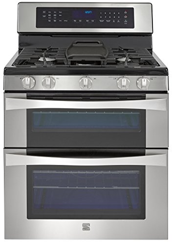 Kenmore Elite 76033 6.1 cu. ft. Self Clean Double Oven in Stainless Steel,...