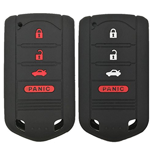 Coolbestda 2Pcs Key Fob Cover Case Protector Remote Control Skin for Acura MDX TL TLX ZDX RDX TSX RL ZD IL M3N5WY8145 (Not fit Engine Hold FOB)