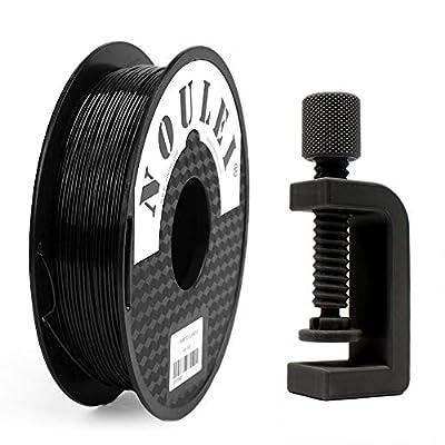 Shading PETG Noulei 3D Printer Filament 1.75mm, Strong 3D Printing Filament, (Black, 0.5kg 500g)