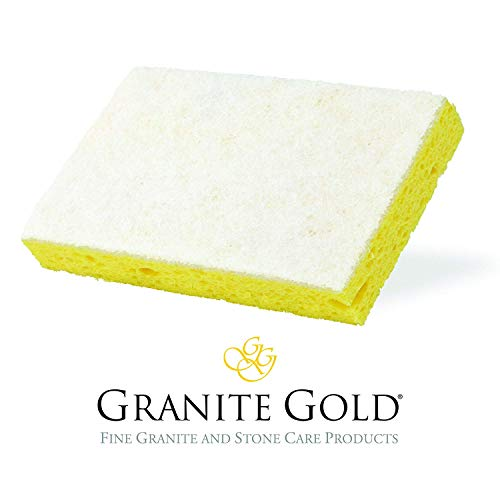 Granite Gold FBA_GG0022 Non-Scratch Scrub Gentle Granite, Marble, Quartz Stone Care Cleaning Sponge, 1-Pack, White