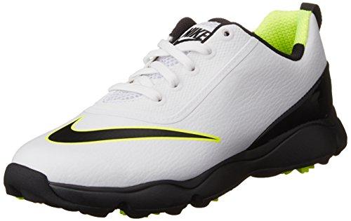 Nike Nike Unisex-Kinder Control Jr. Golfschuhe, Weiß (White/Black/Volt), 36 EU