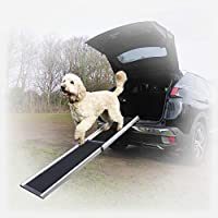 EASY TO USE: Our ramp is lightweight but sturdy, it glides open in seconds and is the easiest way to get your pet in and out of your vehicle. It's strong enough, even for the heaviest of dogs. LIGHTWEIGHT, STRONG AND DURABLE: Weighing just 6.3kg, It'...