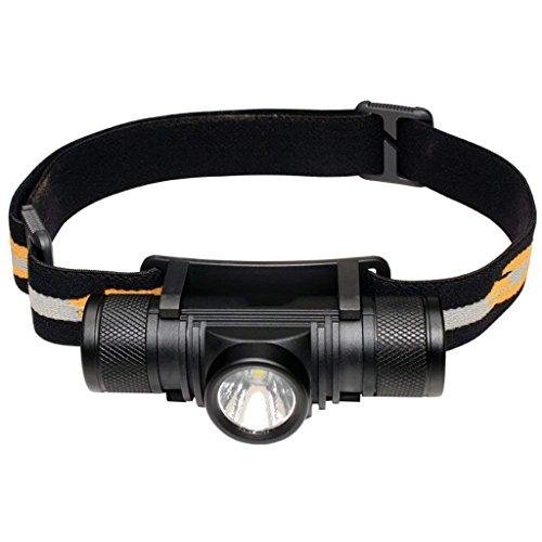 M-zmsdt Torche Principale Rechargeable d'USB, Phare imperméable à l'eau léger de LED, Lampe Lumineuse Superbe Superbe de 800 lumens LED pour Courir la pêche de Camping de randonnée