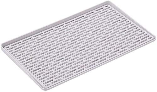 Dongyd Égouttoir, plaque de drainage nordique panier Ménage vaisselle Chopsticks Égoutter rack Dortoir Arts de la table de comptoir Boîte de rangement Cuisine Rack Gray40.5 * 23.5cm, gris, 40,5 * 23.5