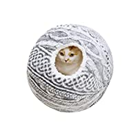 猫の巣、冬の厚いパオ編んだボールキャットハウス、ペット巣猫用品ペット巣猫のベッド