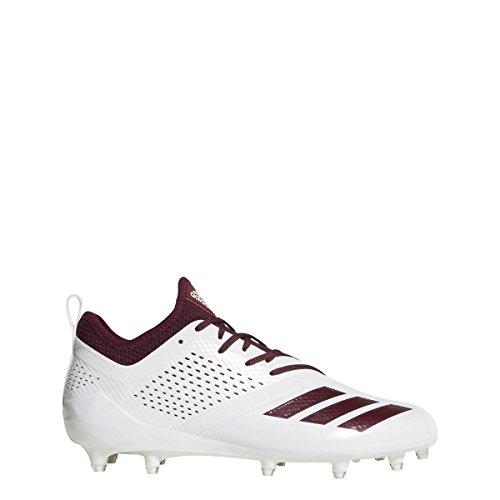 adidas Adizero 5Star 7.0 Cleat Men's Football 6.5 White-Maroon