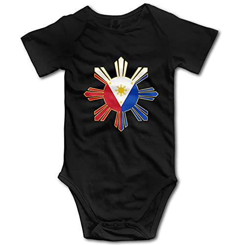 Filipino Flag Infant Baby Bodysuit Clothes Baby Short Sleeve Onesies Filipino Flag Jumpsuit Rompers