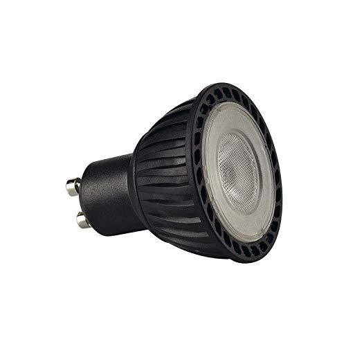 SLV LED GU10 Leuchtmittel, 5,1cm Ø , 4,3 Watt, 2700 Kelvin (warmweiß), 245 Lumen Lichtstrom, nicht dimmbar , äußerst sparsame LED-Lampe mit EEK A+ und 5 kWh Energieverbrauch , 25.000 h Lebensdauer