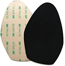 Stick-on suede soles for high-heeled shoes, with industrial-strength adhesive backing. Resole old dance shoes or convert your favorite heels to perfect dance shoes. [SUEDE-LA-black-r03]