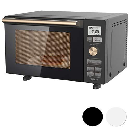 [山善] オーブンレンジ 18L フラットテーブル ヘルツフリー 自動メニュー18種類 グリル トースト 簡単お手入れ ブラック YRP-F180V(B) [メーカー保証1年]