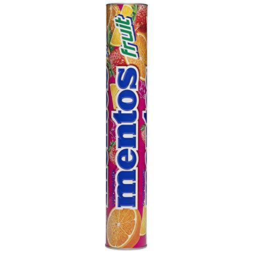 Mentos Maxiroll Gigante Frutas, Caramelo Masticable con Zumo de Frutas - Contiene 10 unidades de 38 gr. (Total 380 gr.)