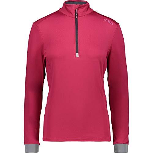 CMP T-Shirt Fonctionnel pour Femme Rouge Respirant Antibactérien Uni, B873 Magenta, Taille 38