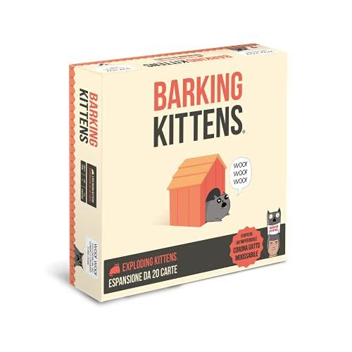 Asmodee - Barking Kittens, Espansione Gioco di Carte Exploding Kittens, Edizione in Italiano, 8545