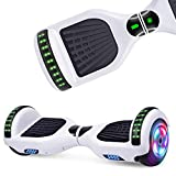 UNI-SUN Hoverboard for Kids 6.5 InchesTwo-Wheel Self Balancing Bluetooth Hoverboard with LED Lights, White Hoverboard