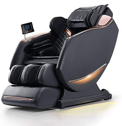 Sillas de Masaje 4D SL Track Silla de Masaje de Cuerpo Completo, Airbags de Gravedad Cero Sillón reclinable Shiatsu con calefacción para la Espalda Baja y Rodillo para los pies