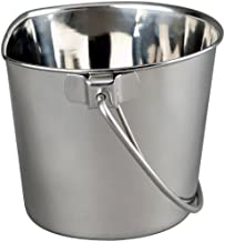 Advance Pet Products Heavy Stainless Steel Flat Side Bucket, 2-Quart