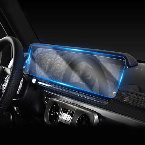 ZMMWDE Película de navegación GPS para automóvil Pantalla LCD Vidrio Templado Protector Antiarañazos,para Mercedes Benz Clase G G63 G65 G500 G350 2018-2020