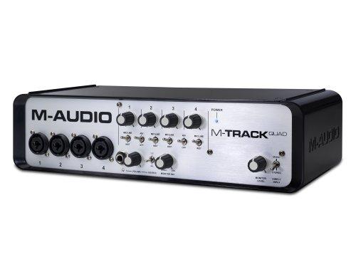 M-Audio M-Track Quad | Four-Channel Audio + MIDI USB Interface (24-bit/96 kHz)