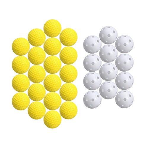 TOYMYTOY Bolas de golf Bolas de práctica al aire libre de interior para los niños Golfer de los niños -20 pedazos