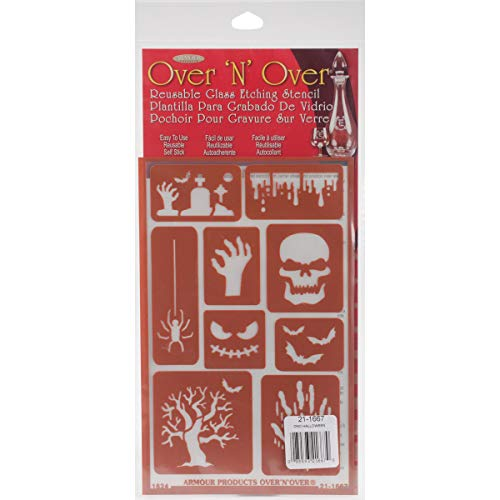 Armour Products Halloween Over n Over Glass Etching Stencil