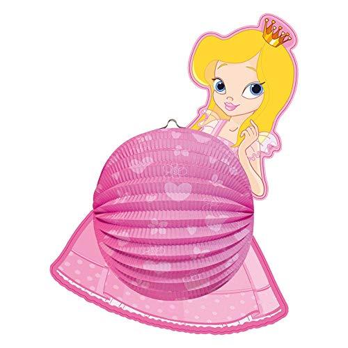 Idena 8310055 - Laterne Prinzessin, Größe 44 x 35 cm, Papier, Lampion, St. Martin, Lichterfest, Laternenumzug, Advent, Weihnachten, Dekoration