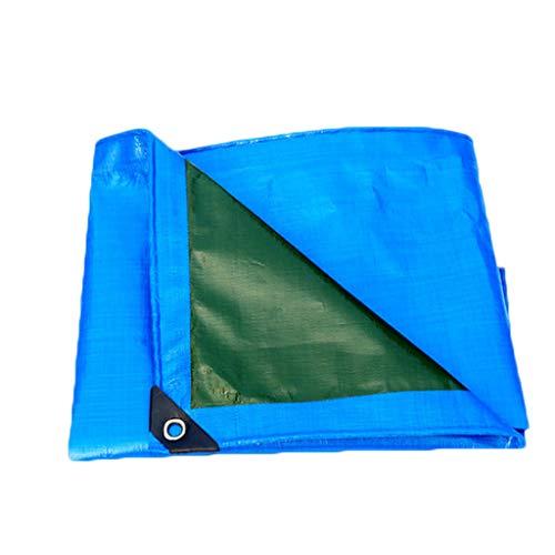LILIS Fundas Muebles Jardin Impermeable Tarpaulina PE 100% Impermeable Doble, Resistente a los Rayos UV, a Prueba de Sol, tamaños múltiples, Azul ejército Verde, 200 g/m² (Color : Blue, Size : 3×6m)