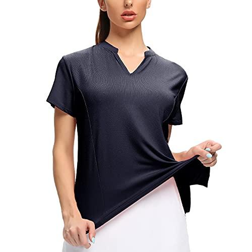 WOWENY Tshirt Maglietta Sportiva Donna Maniche Corta, Maglietta Donna Manica Corta T-Shirt Estivi Casual Camicia T-Shirt Sportivi Vintage Cotone Stretch Elegante Estiva Moda Top