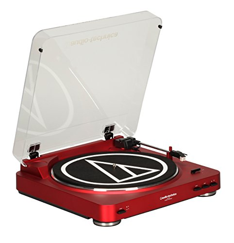 Audio Technica AT-LP60RD Fully Automatic Stereo Turntable System, Red