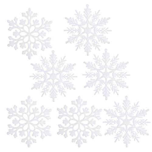 O-Kinee Copo de Nieve Decoración, 24 Confeti Copos de Nieve