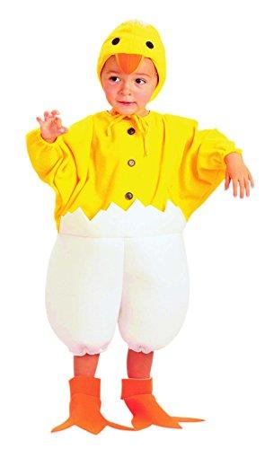 EUROCARNAVALES Disfraz de Pollito Calimero Bebe - Beb, 1-2 aos