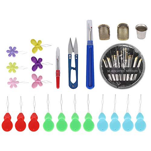 Práctico juego de enhebradoras Accesorios excelentes Componentes del juego de costura Juego de enhebradoras para ancianos Uso doméstico