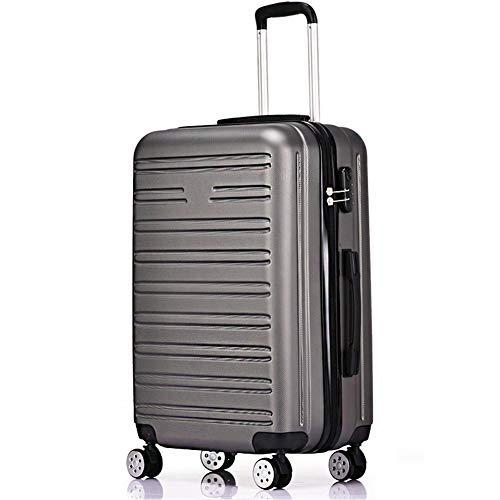 CNBPLS Abs Zipper Trolley Case Trolley Luggage Gift Code Box Sandwich Zipper Bag Silver Gray,24inch